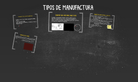 TIPOS DE MANUFACTURA
