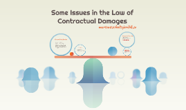 Some Issues in the Law of Contractual Damages