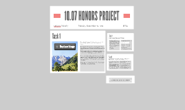 10.07 HONORS PROJECT