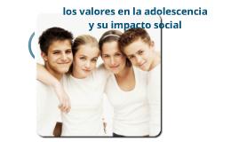 los valores de la adolesencia y su impacto social