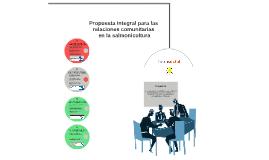 Propuesta integral para el relacionamiento comunitario