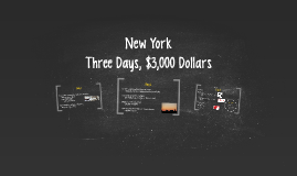 New York : Three Days, $3,000 Dollars