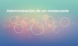 Administration de un restaurante