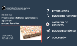 Copy of Produccion de tableros aglomerados TECTAN