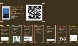Création d'outils numériques sur tablette spécifiques à l'EP