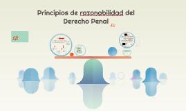 Principios de razonabilidad del Derecho Penal