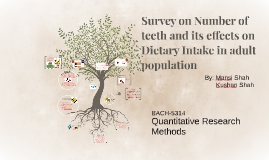 Survey on Number of teeth and its effects on Dietary Intake