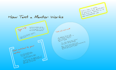 How Text a mentor works