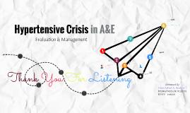 Hypertensive Crisis in A&E