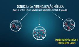 ADM II [11]-Controle da Administração Pública - meios de controle judicial (hc, habeas data e mandado de injunção)