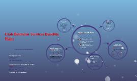 Utah Behavior Services Benefits Plans