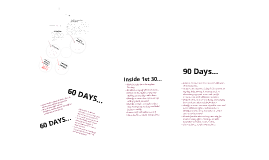 Copy of Copy of 30-60-90 DAY SALES PLAN by Cassie Curtis on Prezi