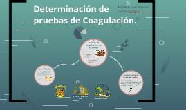 Determinacion de pruebas de Coagulacion.