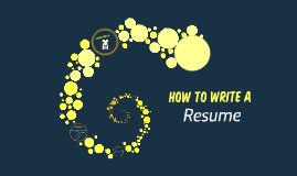 Copy of How to Write a Resume