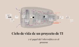 Ciclo de vida de un proyecto de TI