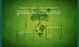 Chapter 19B - The Biosphere (Lecture)