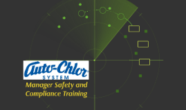 Manager Safety and Compliance Training