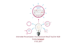 Assistant Head Teacher Presentation