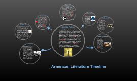 Copy of American Literature Timeline