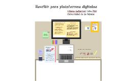Escribir para plataformas digitales