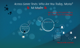 Paired Texts: Who Are You Today, Maria?