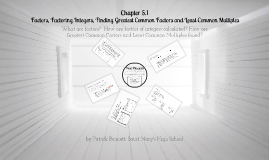 Ch. 5.1: Factors, Factoring Integers, Finding the GCF