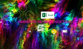 AMBIENTE DE MICROSOFT EXCEL