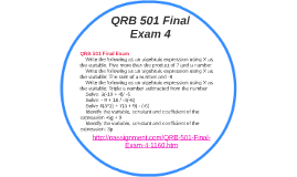 qnt 351 quantitative analysis for business final esam Qnt/351 final exam answers i got 30/30: 100% 1  the performance of  personal and business investments is measured as a percentage, return on.