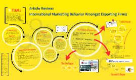 Copy of International Marketing Behavior Amongst Exporting Firms