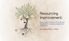 Resourcing Improvement: How I used resources efficiently and