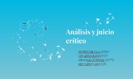 Análisis y juicio crítico