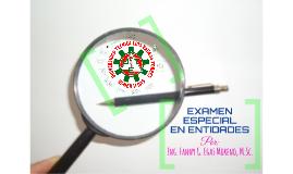 3. EXAMEN ESPECIAL EN ENTIDADES