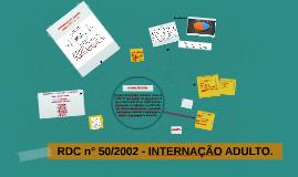 Copy of Copy of RDC 50 - AMBULATÓRIO