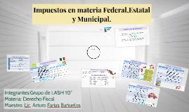 Impuestos en materia Federal,estatal y Municipal.
