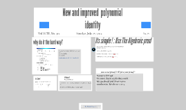 New and improved  polynomial identity