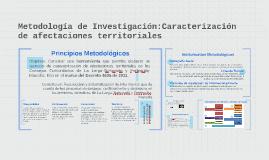 Metodología de Investigación:Caracterización de afectaciones