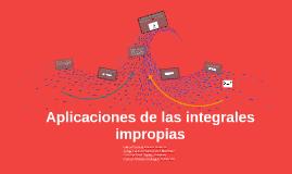Copy of Aplicaciones de las integrales impropias