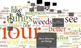 Psychology 20 Unit 5 & 6: Behaviour
