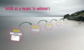 WizIQ as a means to webinars