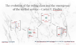 The evolution of the ruling class and the emergence of the s