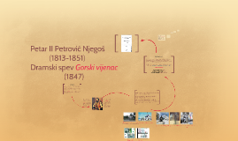 Petar II Petrović Njegoš-Gorski vijenac