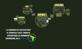 LA COHERENCIA DE POLÍTICAS PARA EL DESARROLLO CON EL COMERCIO INTERNACIONAL DE ARMAMENTO CONVENCIONAL EN LA UNIÓN EUROPEA