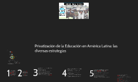 Privatización de la Educación en América latina