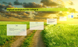 Digitaal aardrijkskunde College 4