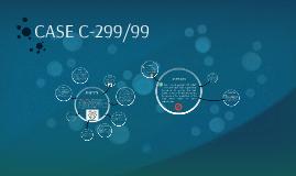 CASE C-299/99