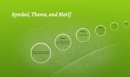 What is the difference between a symbol, motfi, and theme?