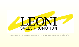 Leoni Spa Sales Promotion ES