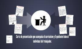 Carta de presentacion que acompaña el curriculum y Expedient