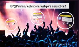 TOP 3 Páginas / Aplicaciones web para la didáctica