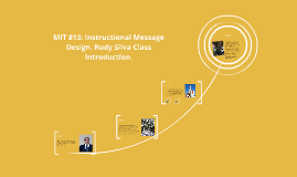 Copy of Copy of MIT 813: Instructional Message Design. Rudy Silva Class Intr